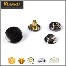Wholesale Brass Black Cover snap on buttons