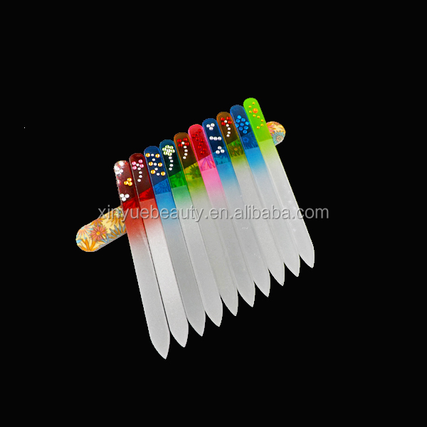 fancy glass nail file wholesale hot sale glass nail file china