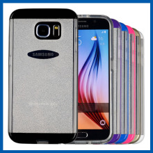 C&T Colorful PC Bumper Bling Gliter Transparent Gel Soft TPU Slim Clear Case For Galaxy S6 Edge