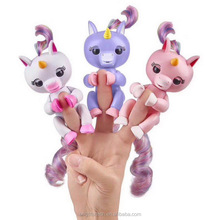 New design Speaking Toys Interactive Finger Monkey Colorful Fingers Llings unicorn