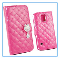 Shinny Bling Diamonds Leather Wallet Flip Case Cover For Samsung Galaxy S5 i9600