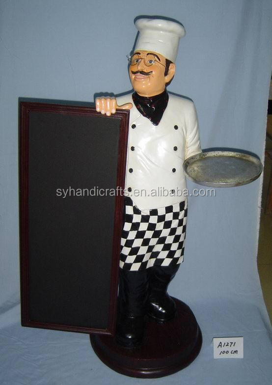 resin statue foe sale,Polyresin Custom Fat Kitchen Chef Figurine,customized fantastic vivid polyresin statue chef figure
