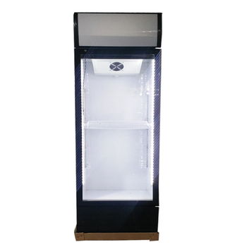300L vertical static cooling system glass door commercial display fridge refrigerator