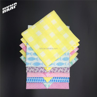 0199 dyed printed disposable spunlace cleaning wipes kitchen mesh cleaning wipes disposable towels