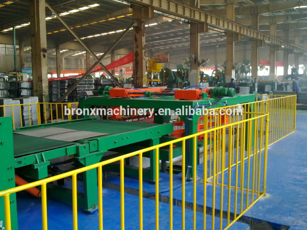 high quality Flat Bar straightening and cut to length machine with