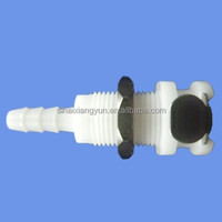 "3/16"" POM EPDM flexible pipe connector, panel mount BMD1603PH"