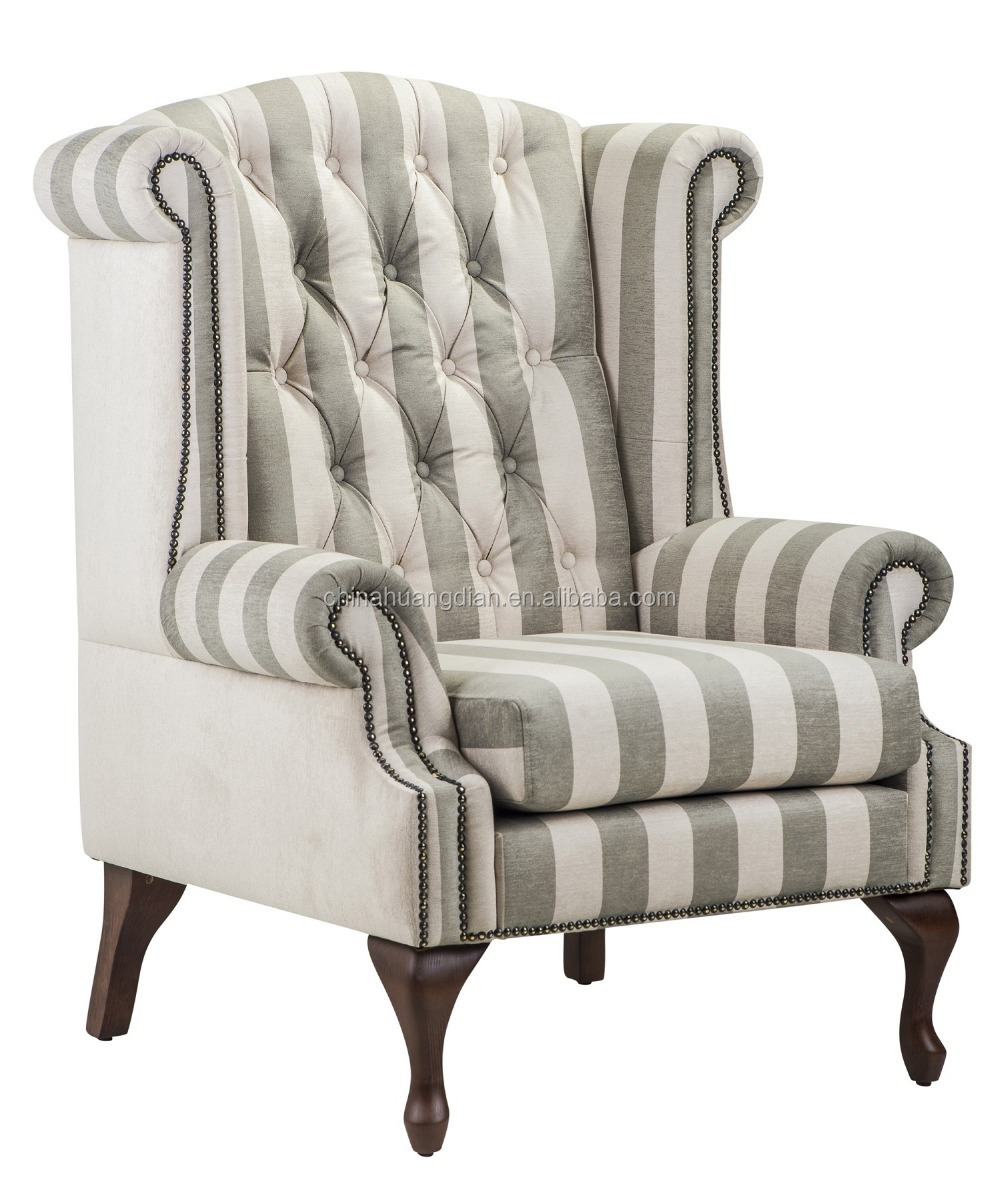 High back wing chair sofa antique living room furniture - High back wing chairs for living room ...