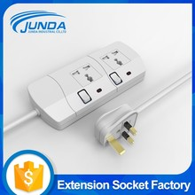 Heavy duty ul approved retractable flat cable multi outlet individual switch surge protector universal power strip