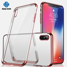 Luxury fashion shockproof thin transparent case for iphone x