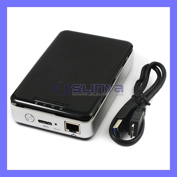 "Portable 500GB 1TB 1.5TB 2.5"" HDD 3TB HDD Hard Drives Wifi HDD Enclosure"