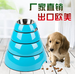 Export Top quality stainless steel round bowl pet accessories pet dog bowl