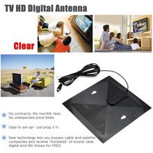 New Clear Flat Design High Gain TV Antenna TV HD Digital Antenna No More Cable Bills Genuine