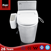 integrated smart toilet seat stainless steel toilet
