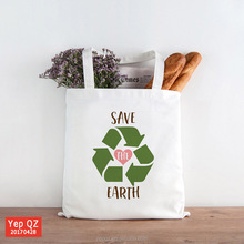 eco friendly organic cotton food grocery bags fashion shopping bag