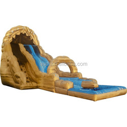 Pirate Glod Color Inflatable Wet Slide,Newest Design Special Water Park Inflatable Slide