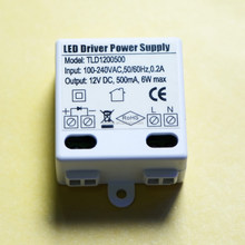* LED Driver power 12V 0.5A 6W single Output constant voltage power supply for LED striptlighting