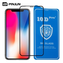 2018 new glass full cover 10D tempered glass for iphone x glass screen protector
