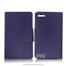 Leather flip wallet stiching flap case for blackberry z30