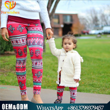 2017 kids clothing mummy and baby matching leggings Halloween mother daughter leggings