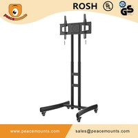 PM-ST600 movealbe free standing Modern New design Metal LED / LCD TV Trolly Stand