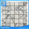 White Marble Bathroom Stone Wall Mosaic, Crystal cream marble