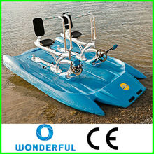 high quality park entertainment double adult inflatable sea water bike pedal boats for sale