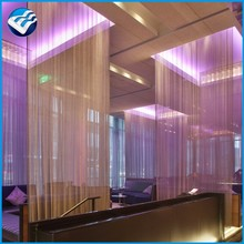 metal drapery for building interior decoration