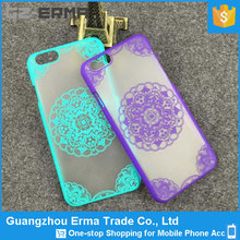 Free sample Flower Pattern Hard PC Back Case Cover for iPhone 6 & 6S