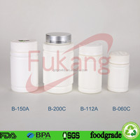 round HDPE plastic pill white container / plastic medicine bottle packaging sex pill with CRC cap