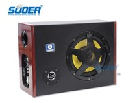 Suoer High Quality 8 Inch Car Subwoofer Square Car Audio Subwoofer Car Big Bass Audio Subwoofer