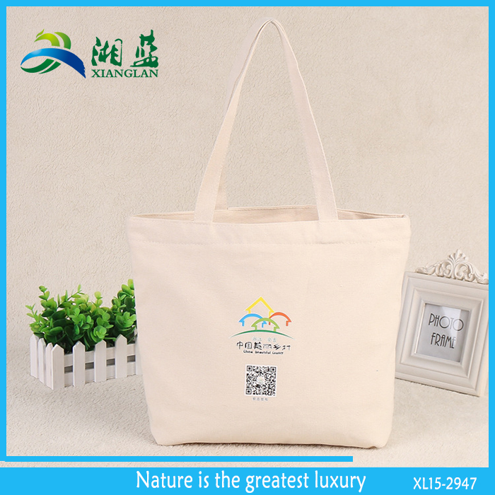 custom printed recycled plain cotton tote bags promotional