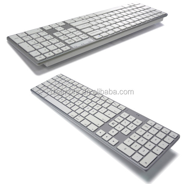 Ultra Slim Bluetooth Full Size Keyboard, Compatible with Mac or other MID