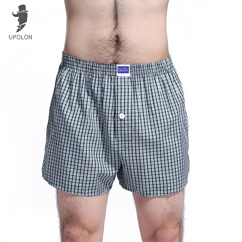 Upolon Men's Woven Boxer Shorts Underwear Brietf Underwear