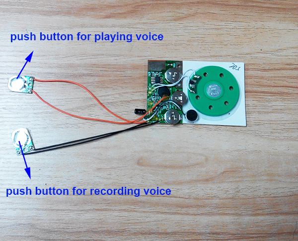 Mini microphone voice recording chip for greeting cards