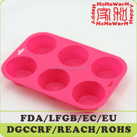 Large Muffin Pan and Cupcake Pan Silicone 6 Cup Mold Multi-purpose for Making Muffins, Cupcakes, Soap Molds, Ice Cube Trays