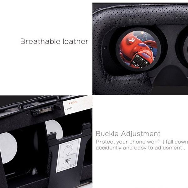 V2 II 3D Video Glasses Headset VR BOX ,VR BOX with Remote for phone