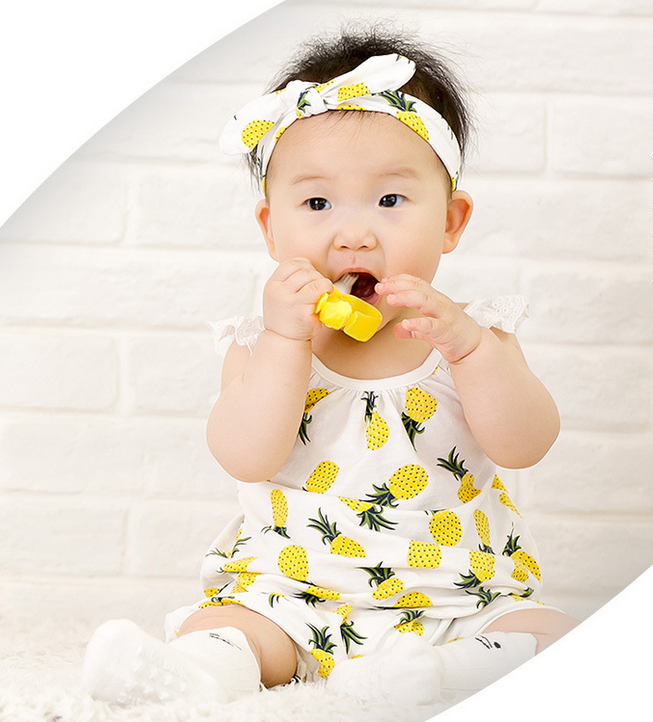 YF7503 Summer strap romper sleeveless baby clothing with headband