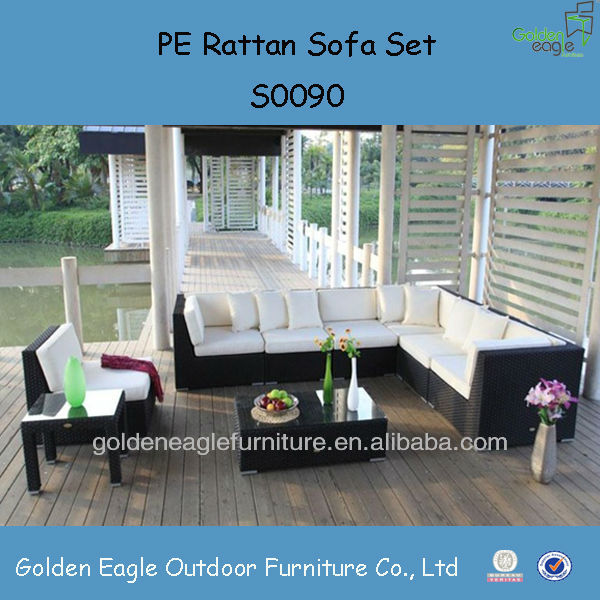 rattan conbination outdoor furniture / sofa set / hotel furniture/ roots+outdoor+furniture