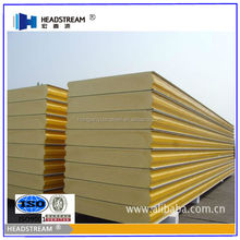 Insulated metal wall panel / PUR / PIR panel sandwich roof panel from alibaba china