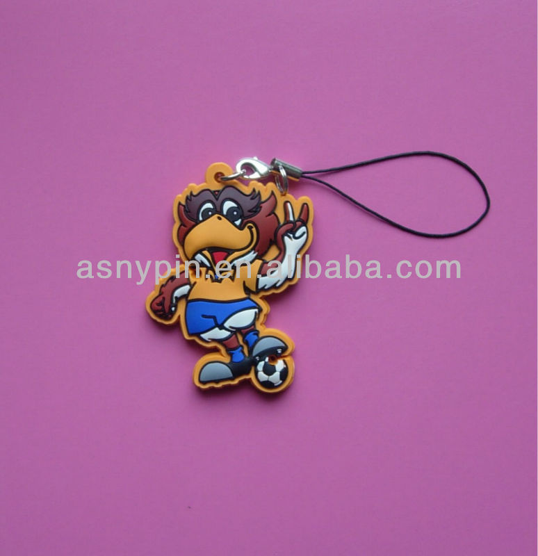 soft pvc charms danglers for cellphone
