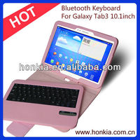 The Newest Detachable Wireless Keyboard with Coloful Case for Galaxy Tab3 P5200 10.1inch
