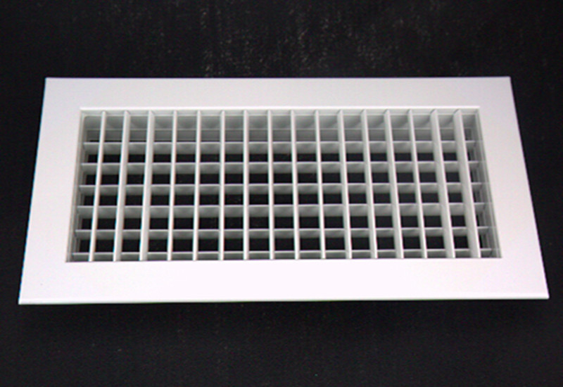 Aluminum ventilation supply double deflection air grille