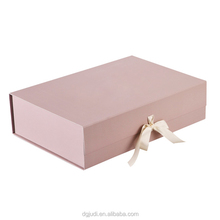 Magnetic foldable paper box, Flat pack gift box, Colorful printed paper packing box