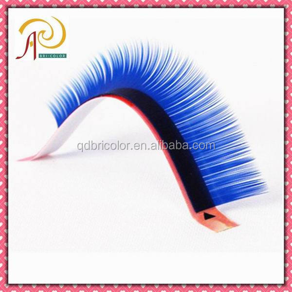 Multi-color Rainbow color Synthetic Hair Individual Eyelash Extension
