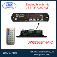 JK6836BT-MIC 12v usb mp3 player decoder module with mic