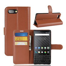 YEXIANG Leather With Credit Card Slot Mobile Phone Flip Cover <strong>Case</strong> For <strong>BlackBerry</strong> Key 2