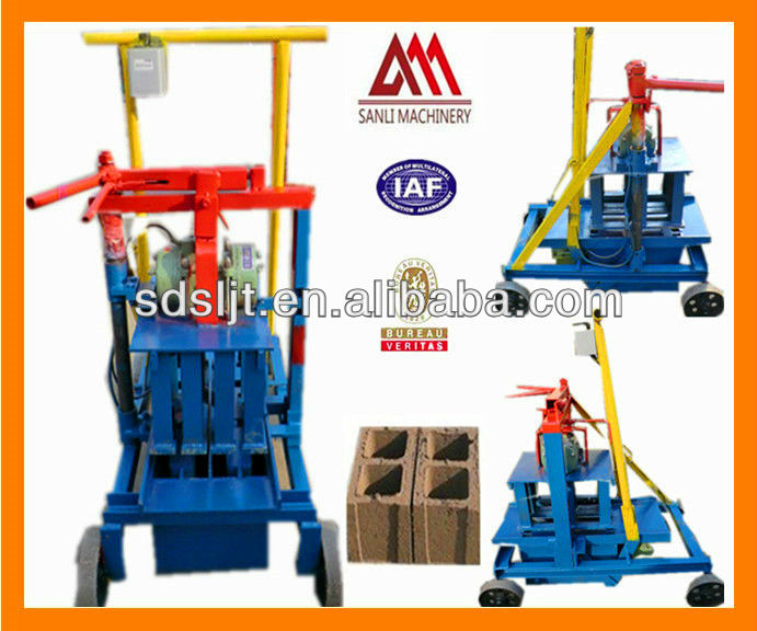 Small Investment/Quick Effet Manual Block Making Machinery QMJ2-45 for Small Business Sold to Africa