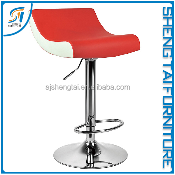 Supplier customize red adjustable bar stool