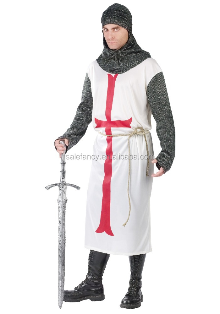 plus size carnival mens crusader knight costume men latex QAMC-8343