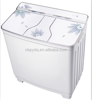 9.8kg Glass top lid three tub washing machine